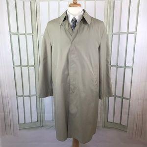 The Men's Store Men's Tan Overcoat Lined Size 42 R